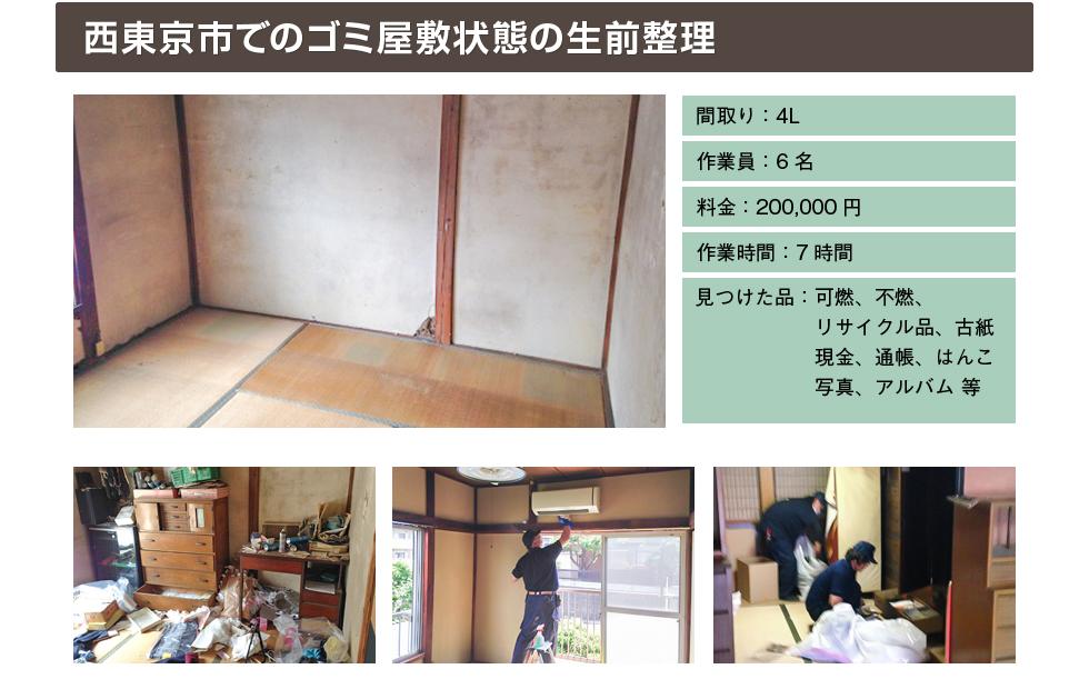 西東京市でのゴミ屋敷状態の生前整理