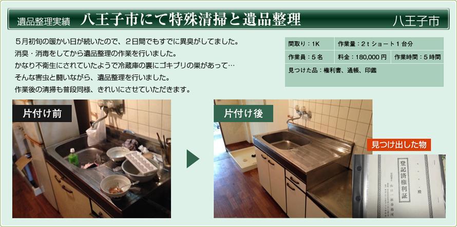 八王子市にて特殊清掃と遺品整理